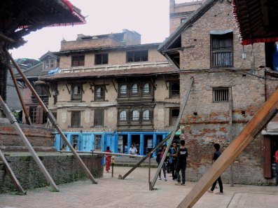 old Newar type buildings around Durbar square in Pata resisted