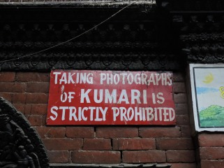 strictly prohibited to take a picture of a goddess or a human rights abuse?