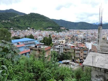 Kathmandu seen from above