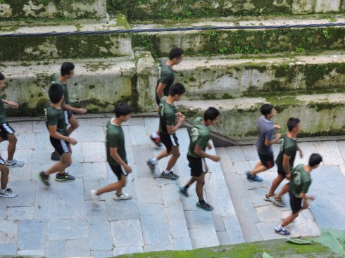 Jogging at Pashupatinath