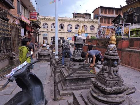 Shivalinga climbing contest
